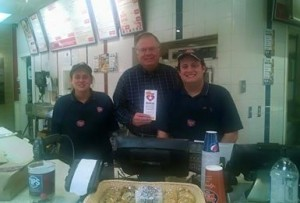 Jersey Mike's Subs is givings its profits to Veterans. Thank you. With Charles Gilliam.
