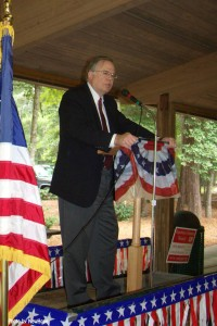 Judge Charles P. Gilliam speaking on Labor Day