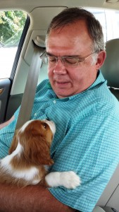 Churchill Gilliam, the Gilliam family's new puppy. A King Charles Spaniel.